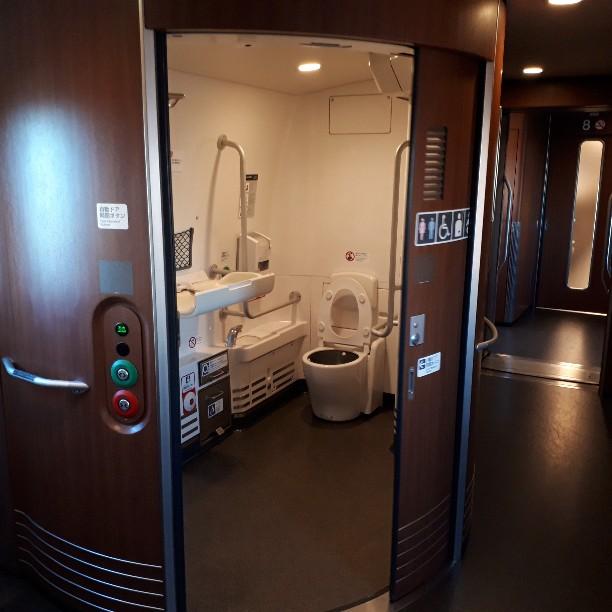 新幹線 みずほ号 さくら号 N700系7000番台、8000番台 多目的お手洗い