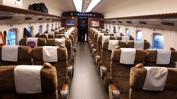 新幹線 みずほ号 さくら号 N700系7000番台、8000番台 普通車指定席 車内