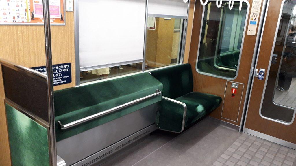 阪急京都線特急 9300系 車いすスペース