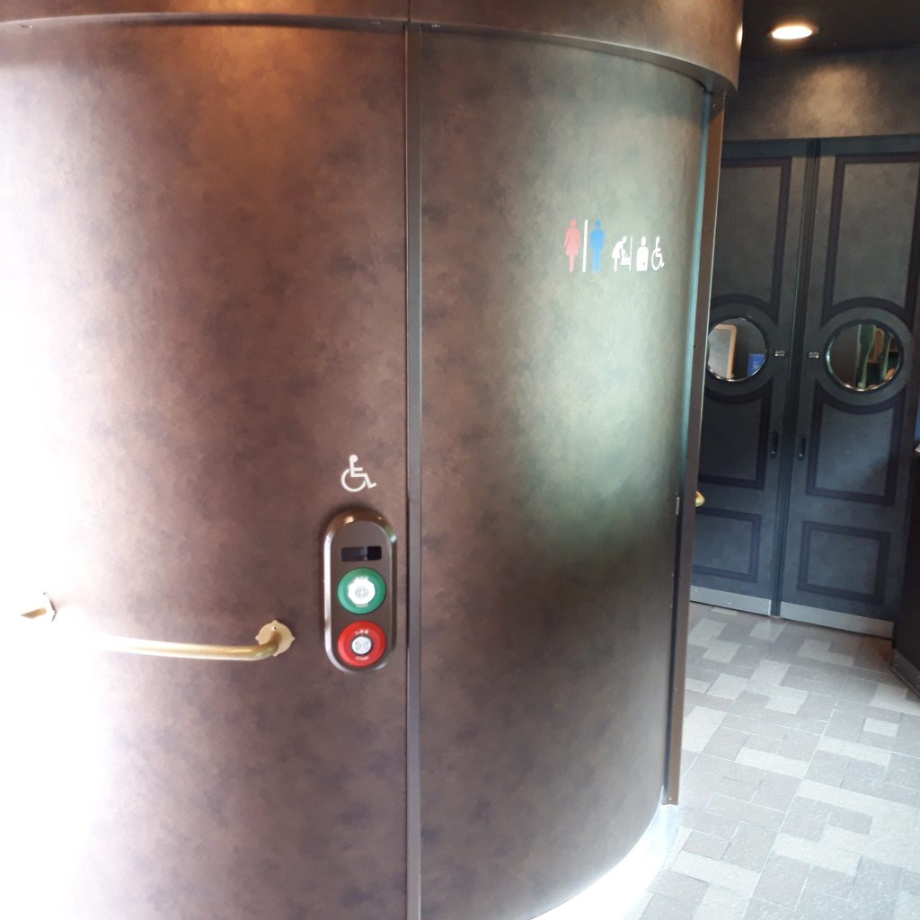 近鉄 青の交響曲 16200系 1号車 多目的お手洗い トイレ