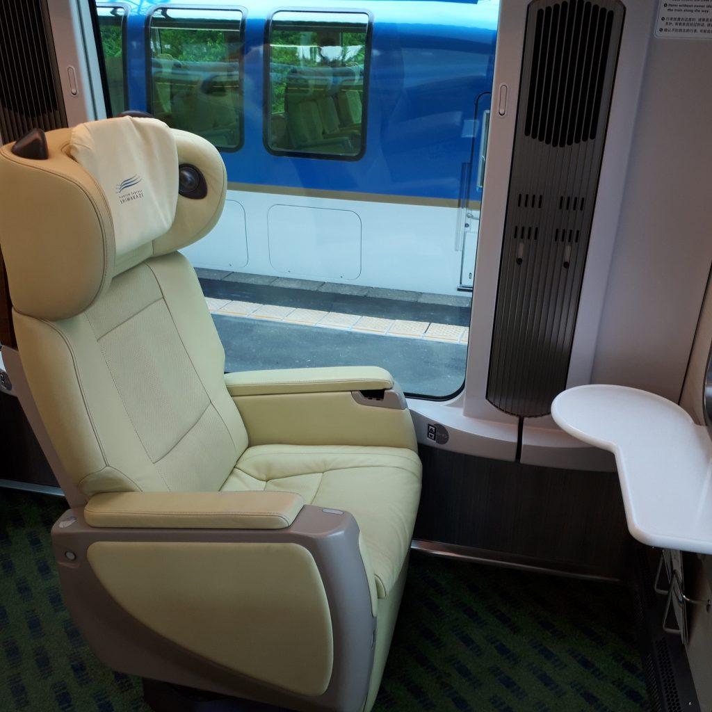 近鉄 50000系 しまかぜ プレミアムシート 運転席後ろ座席