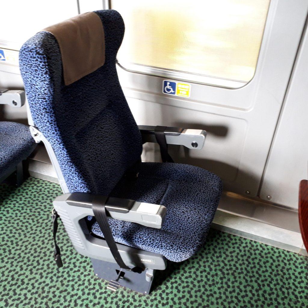 特急きりしま 787系 普通車 指定席 車いす対応座席