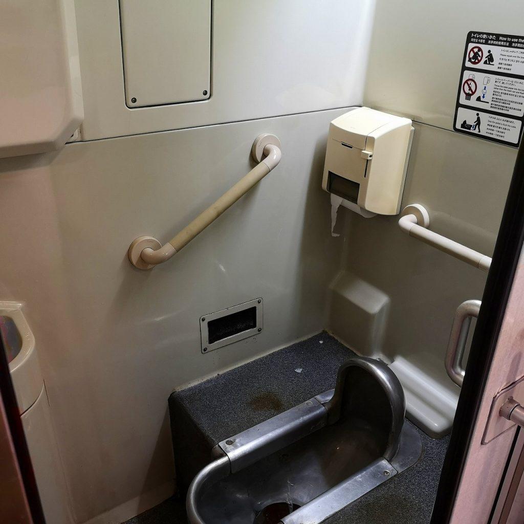 特急しおかぜ8600系和式お手洗い