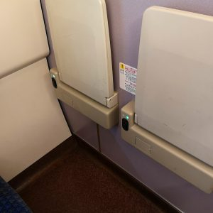 特急まいづる 287系 普通車 指定席 自由席 端部座席 テーブル