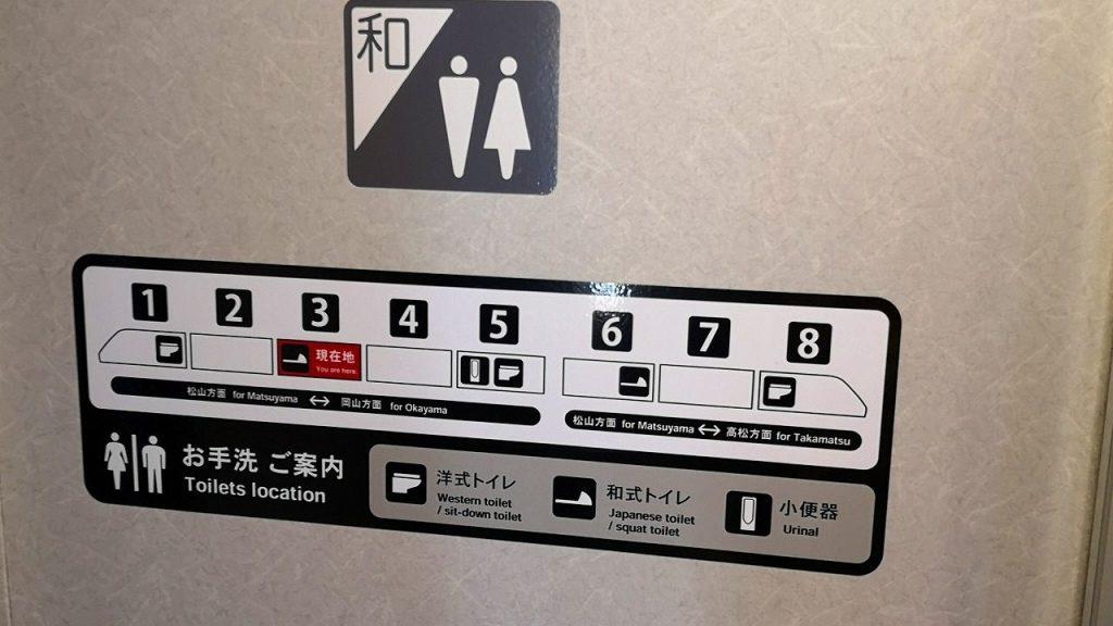 特急しおかぜ 8000系 お手洗い トイレ