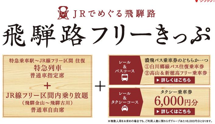 JR東海 飛騨路フリーきっぷ