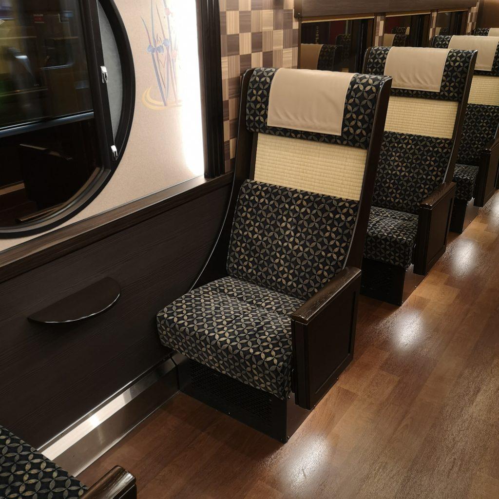 阪急 京とれいん雅楽 4号車 一人用座席