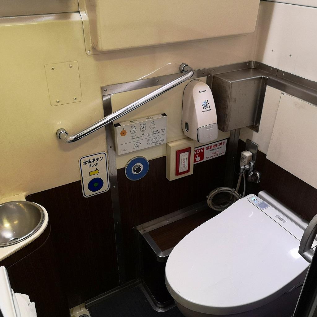 特急スーパーはくと HOT7000系 お手洗い トイレ