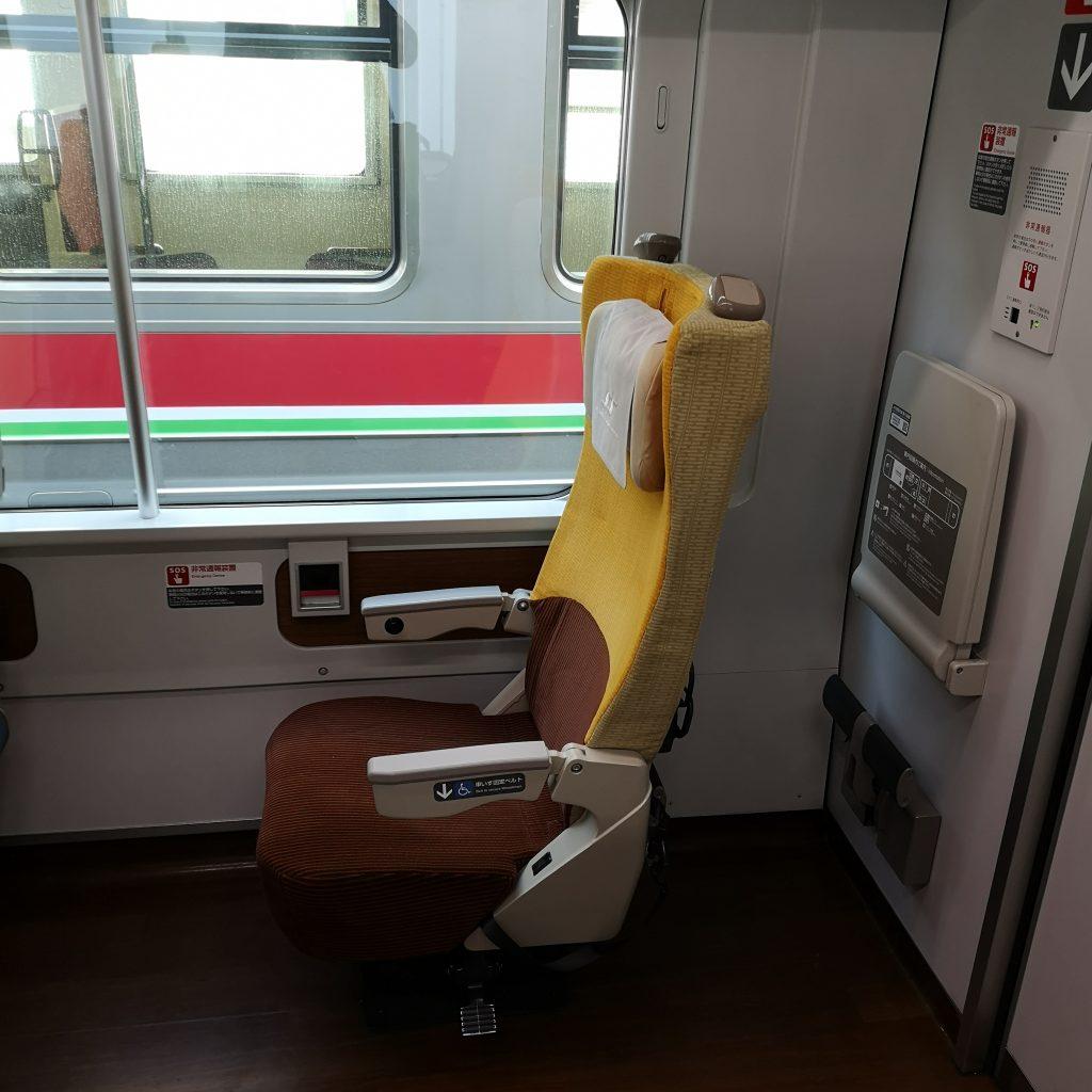 特急 いしづち 8600系 普通車 車いす対応座席