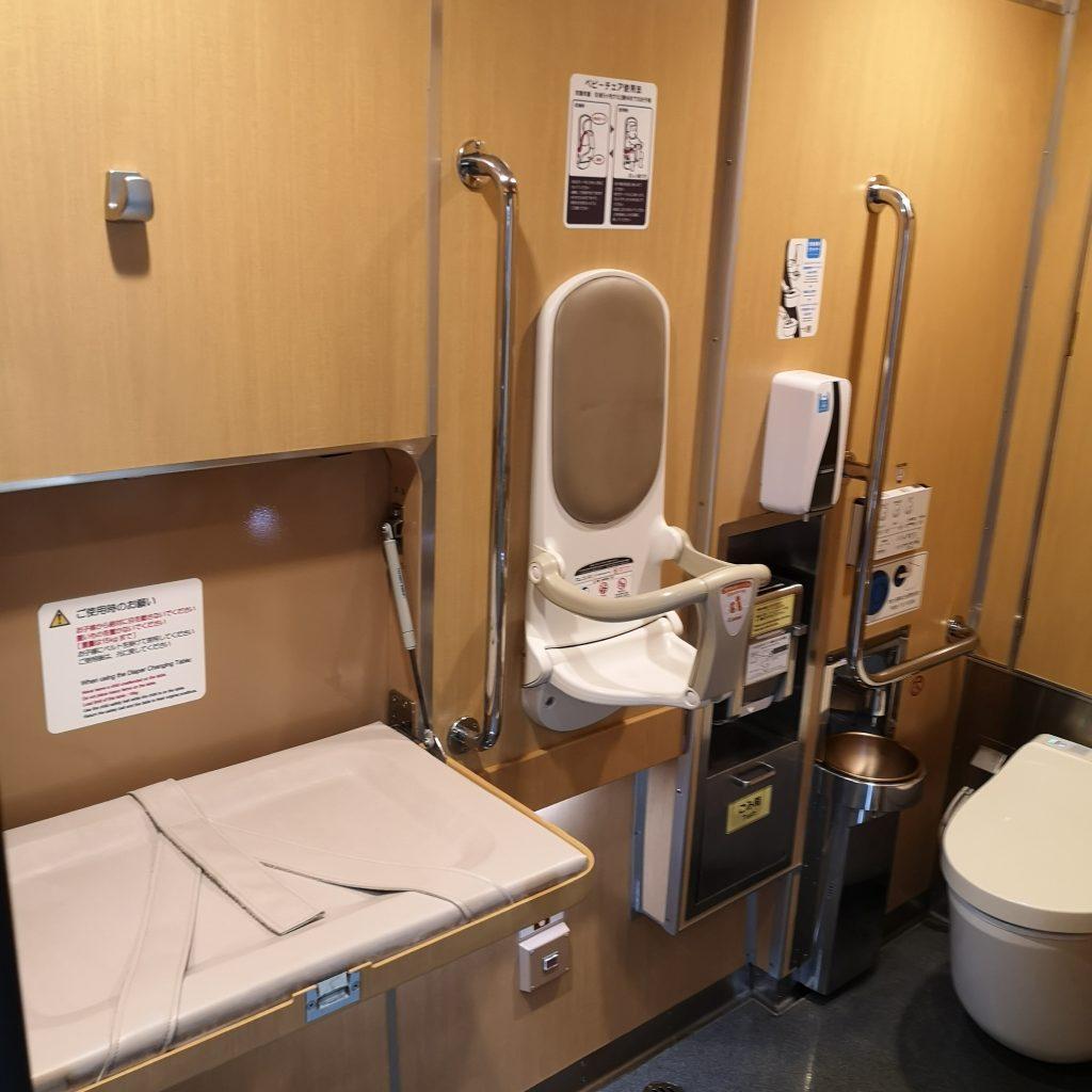 近鉄 名伊特急 22000系 多目的お手洗い トイレ