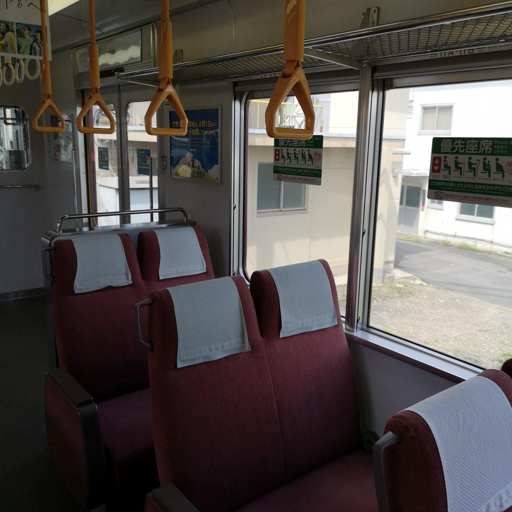 近鉄 大阪線急行 5200系 車内 優先座席