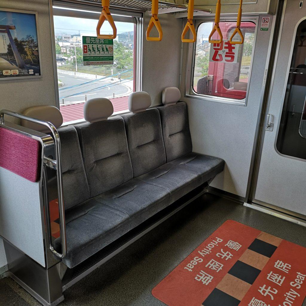 近鉄 大阪線急行 5800系 車内 優先座席