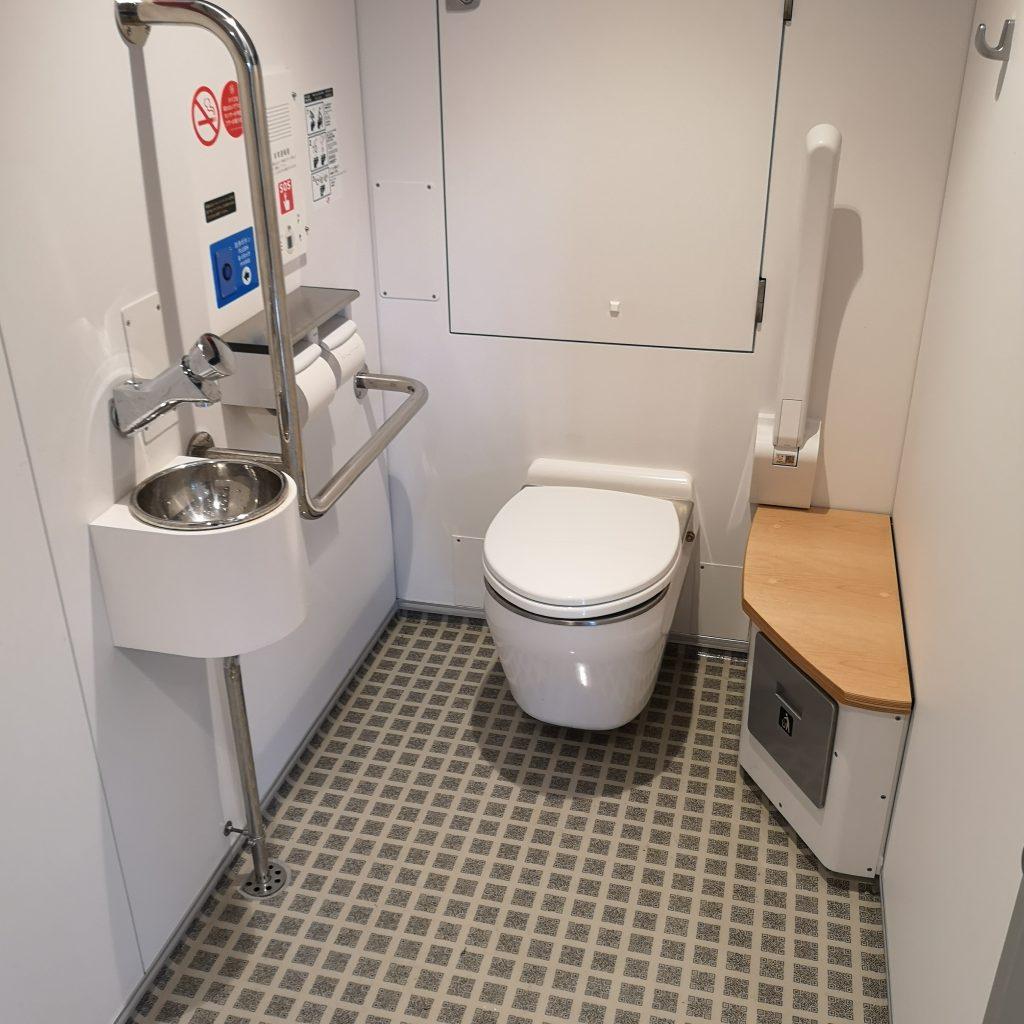 快速シーサイドライナー YC1系 お手洗い トイレ