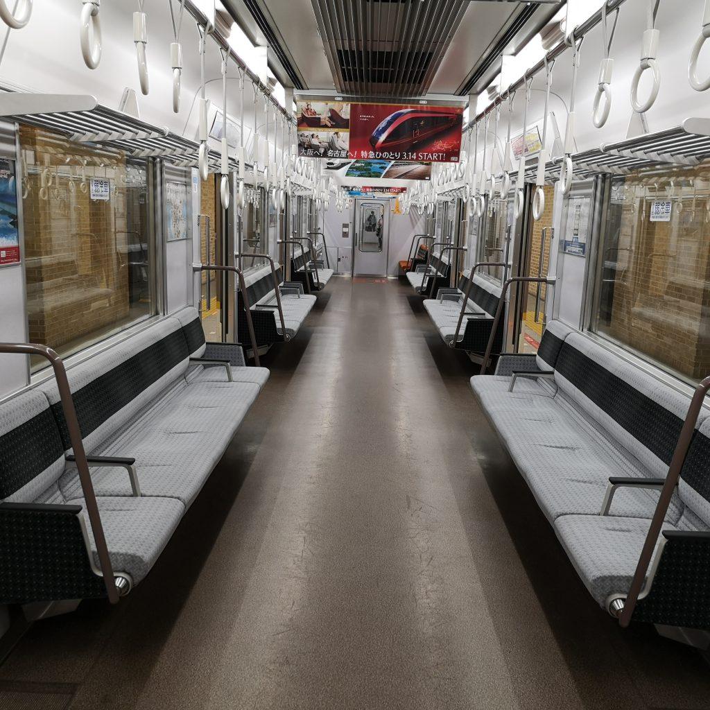 近鉄奈良線 阪神 直通快速急行 近鉄9820系 車内