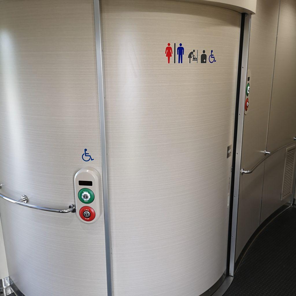 近鉄 阪伊特急 22000系 多目的お手洗い 多目的トイレ