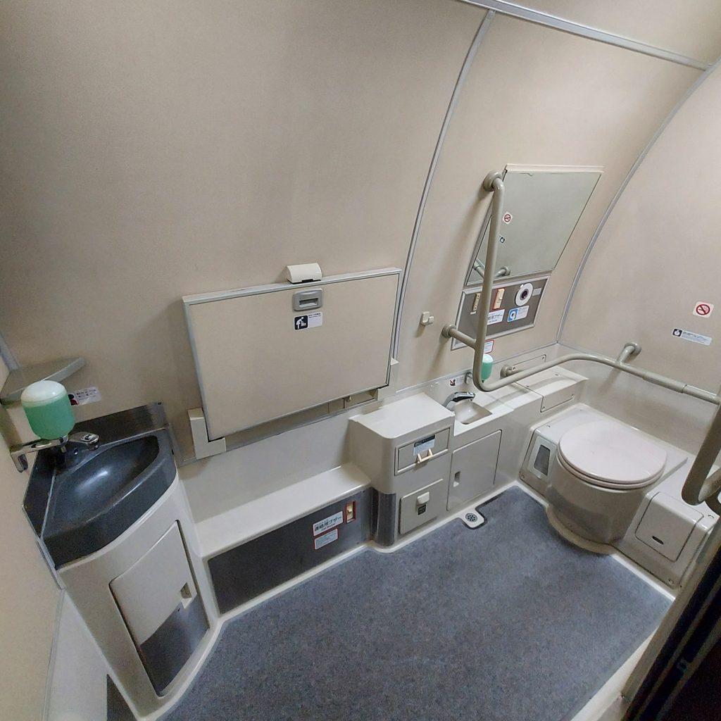 こだま 500系 多目的お手洗い 多目的トイレ