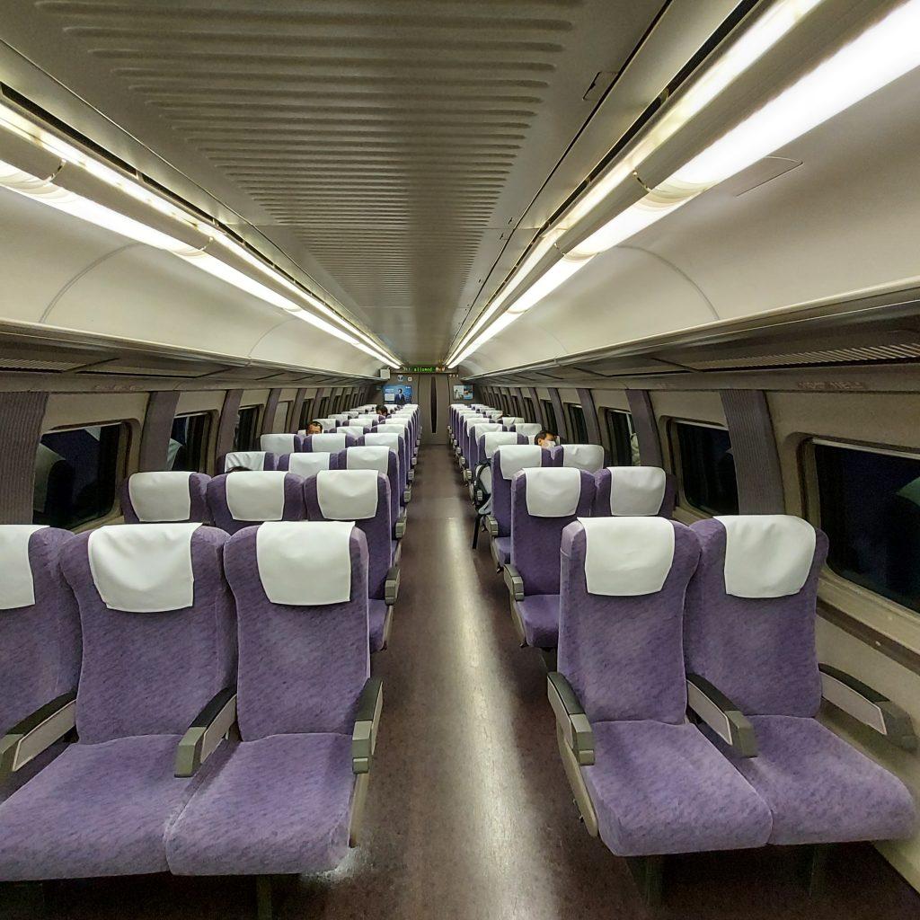 新幹線 こだま号 500系 自由席 車内