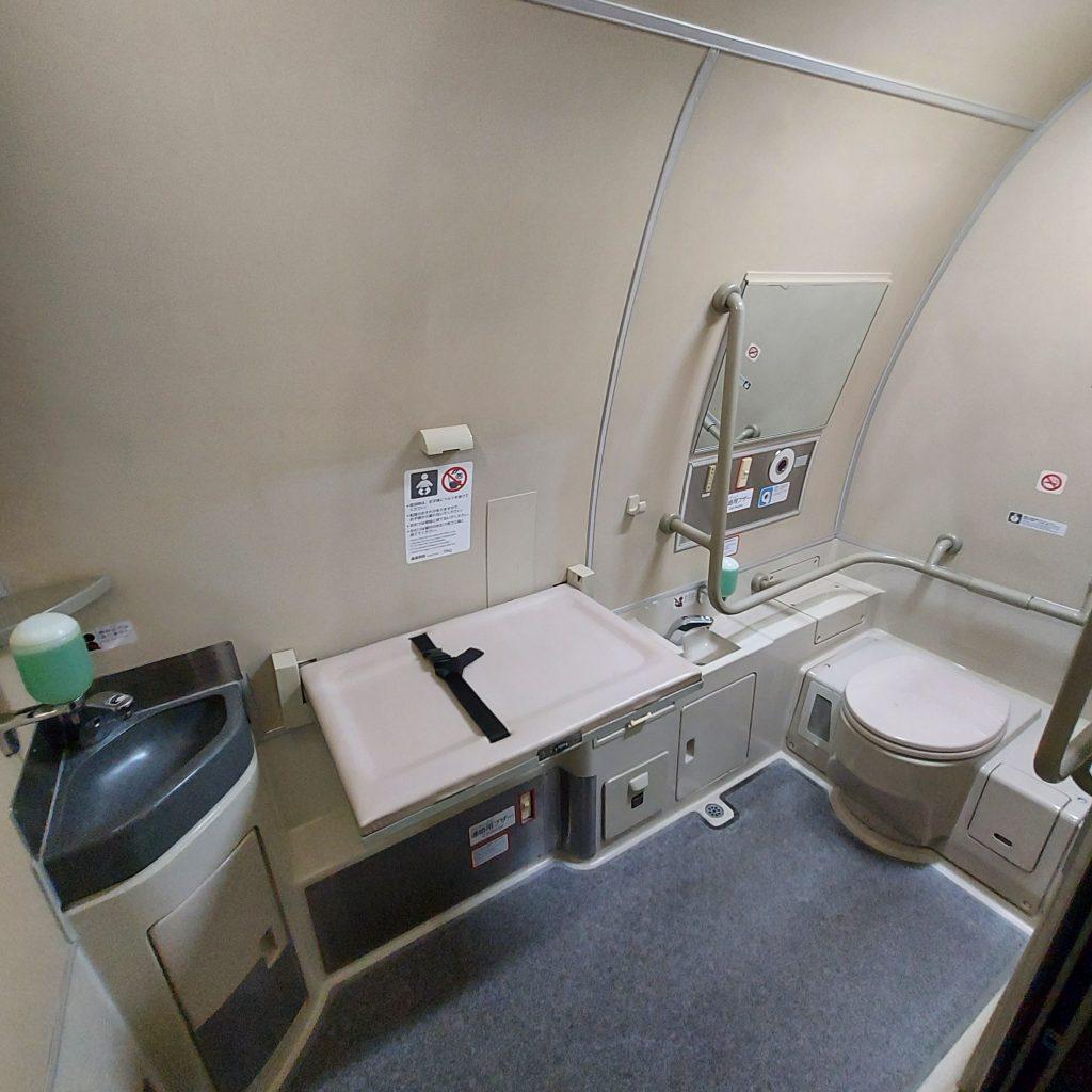新幹線 500系 普通車 多目的お手洗い 多目的トイレ