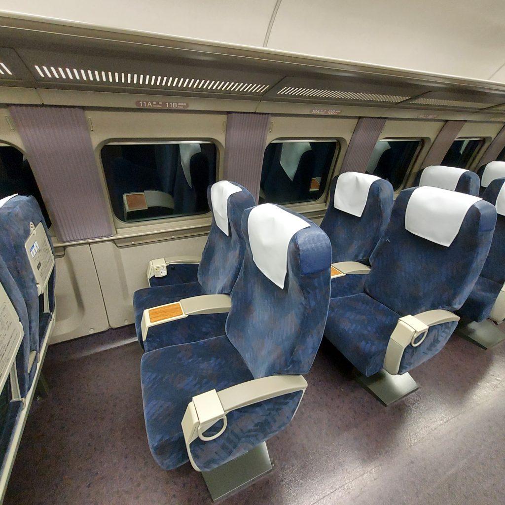 新幹線 500系 普通車 指定席 車内