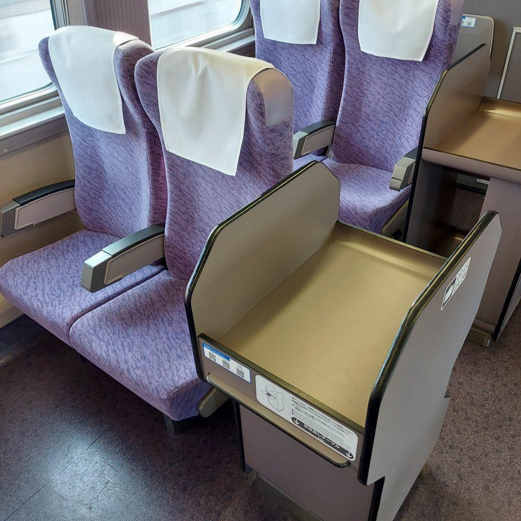 新幹線 500系 普通車 自由席 1号車 座席