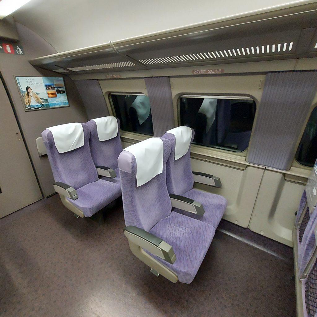 新幹線 500系 普通車 自由席 車内