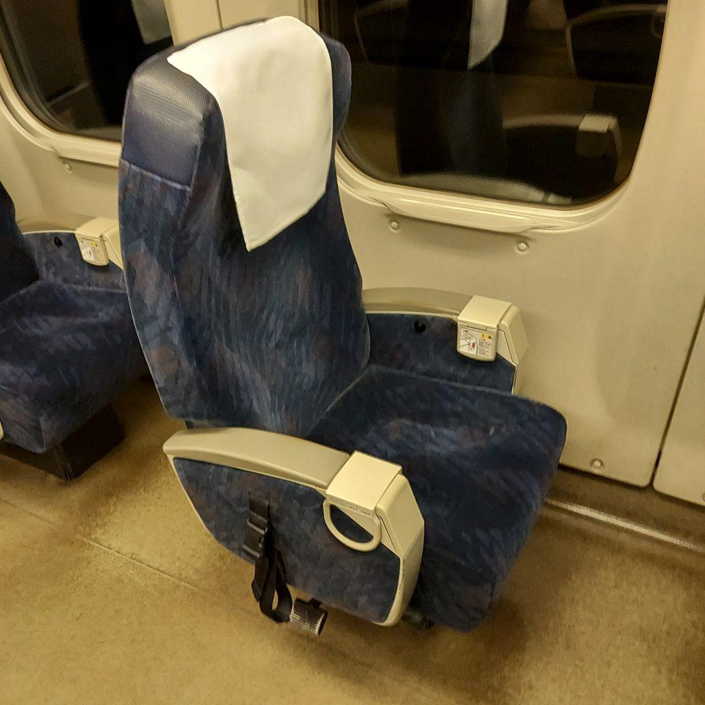 新幹線 700系 レールスター 普通車 車いす対応座席