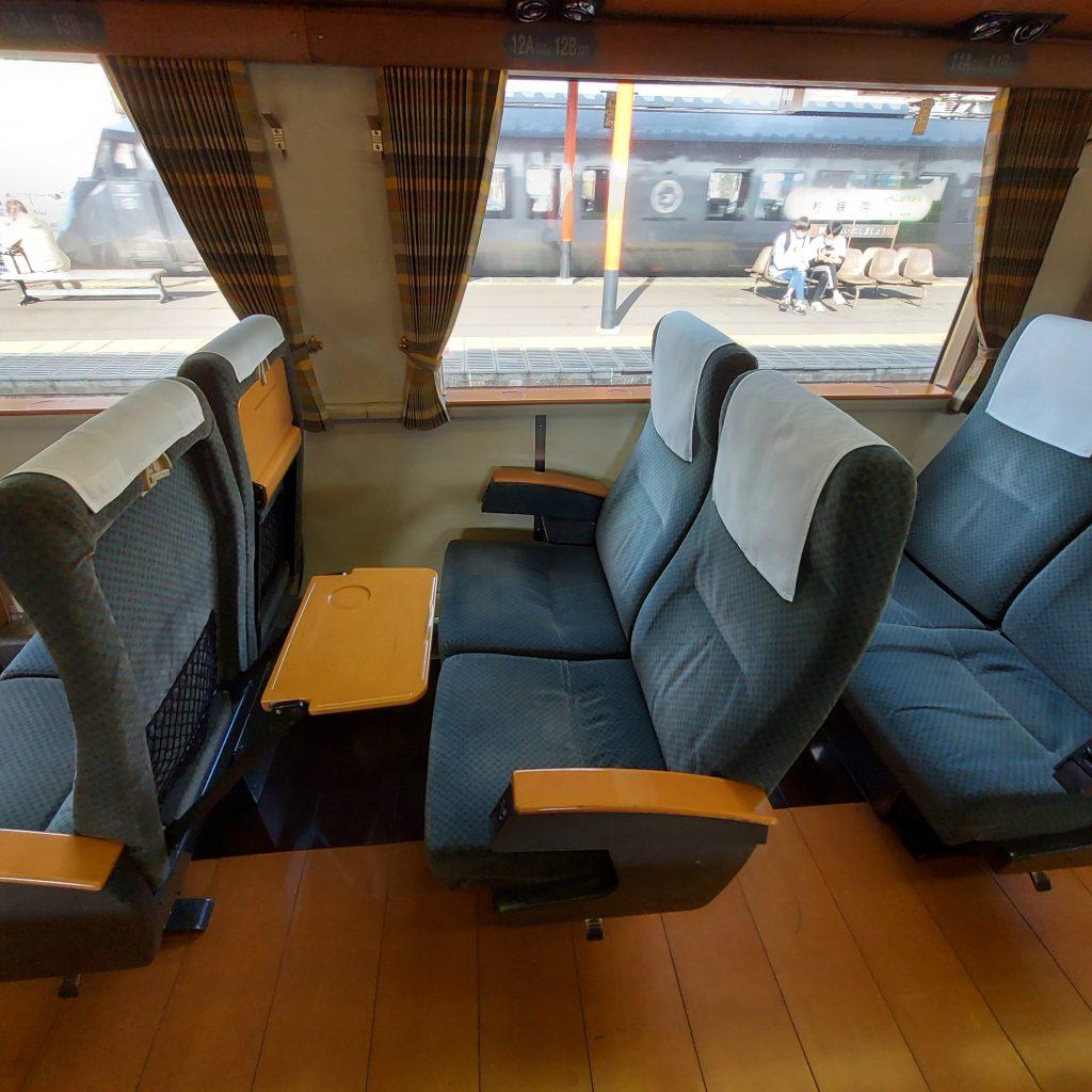特急 ゆふ キハ185 普通車 自由性 指定席 座席