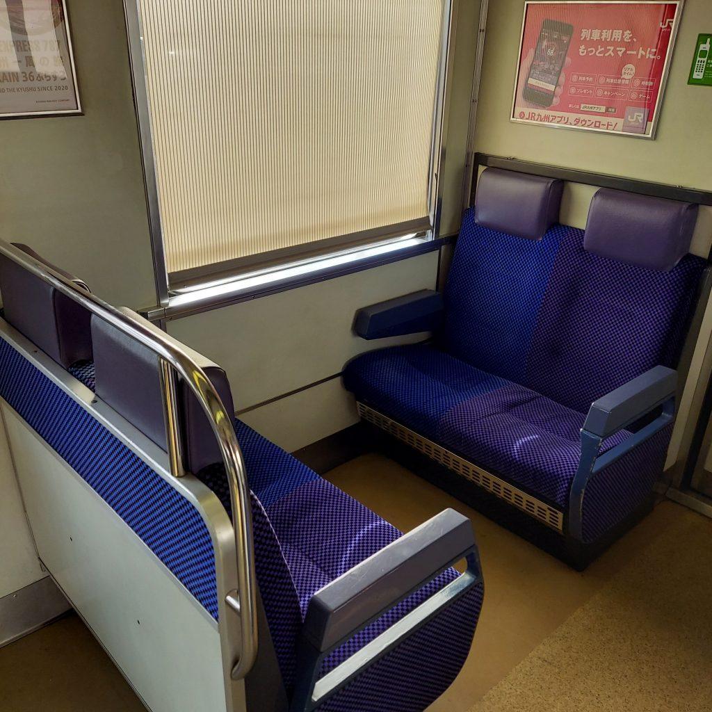 JR鹿児島本線快速 811系 車内 座席