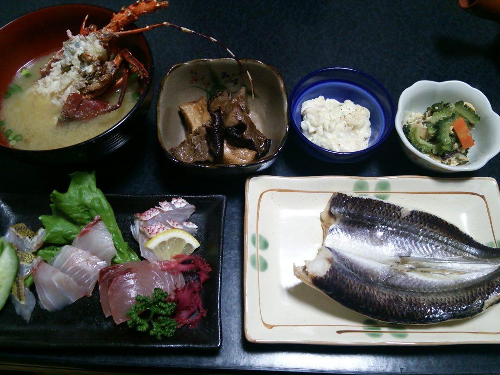 トカラ列島 平島 たいら荘 夕食
